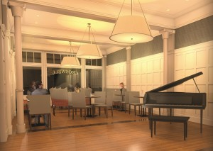 The Heritage Room will be extended to the front of the building, making it visible from Maumee Street, and will serve as a multipurpose venue for socializing, drinks, snacks, and small-scale entertainment.