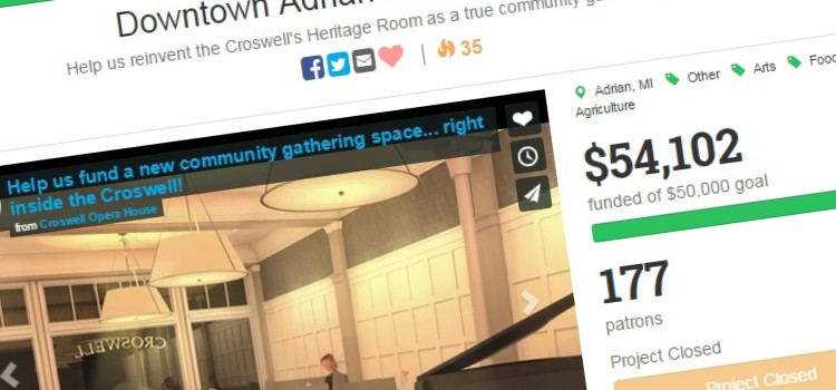 Croswell Opera House meets goal for $50,000 challenge grant